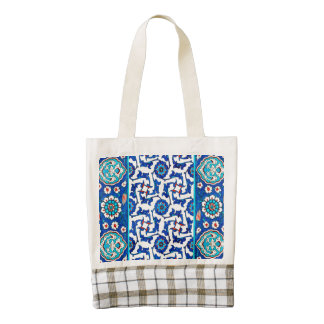 iznik tile zazzle HEART tote bag