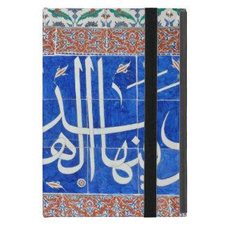 Iznik tiles with islamic calligraphy covers for iPad mini