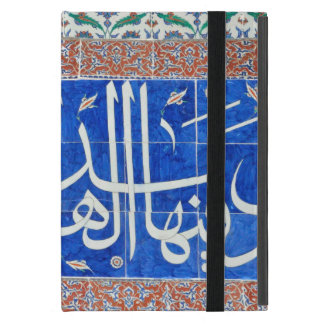 Iznik tiles with islamic calligraphy iPad mini cover