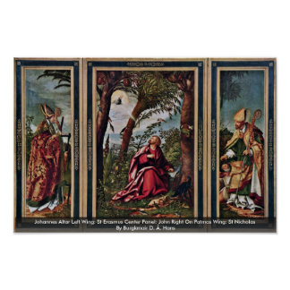 Izquierda del altar de Juan: Panel central de Eras Poster