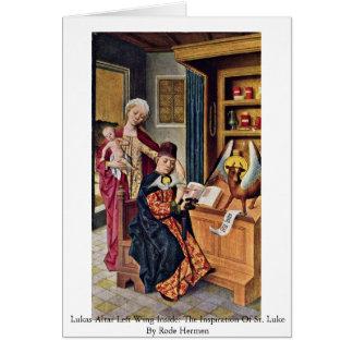 Izquierda del altar de Lukas dentro Tarjeta De Felicitación
