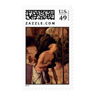 Izquierda del tríptico de Galitzine: St Jerome por Sellos