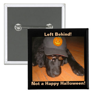 Izquierda detrás de este Halloween Pin Cuadrado