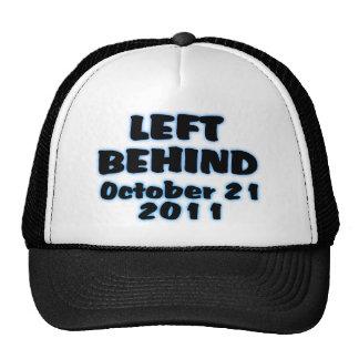 Izquierda detrás del gorra del 21 de octubre