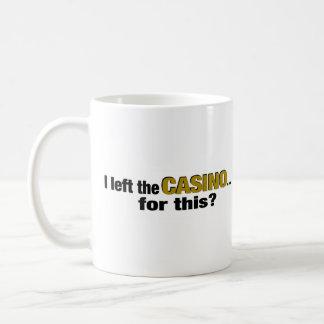 ¿Izquierda el casino para esto? Taza Básica Blanca