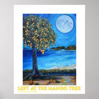 Izquierda en el poster del árbol de mango