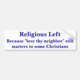 Izquierda religiosa ( pegatina de parachoque