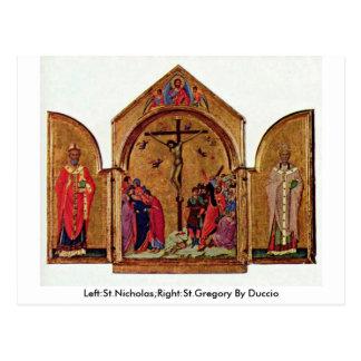 Izquierda: San Nicolás; La derecha: St Gregory por Postales