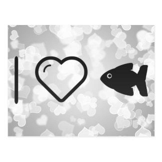 Izquierdas frescas de los pescados tarjetas postales