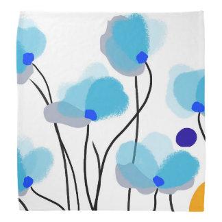Izumi blue flowers bandana