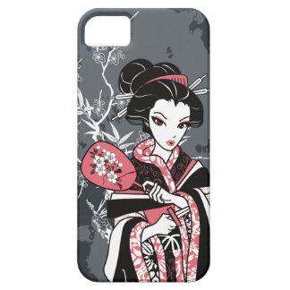 Izumi el chica de geisha de Kawaii del dibujo anim iPhone 5 Case-Mate Coberturas