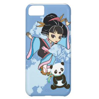 Izumi the Cartoon Kawaii Geisha Chibi Girl & Panda iPhone 5C Cover