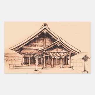 Izumo-Taisha Pegatina Rectangular