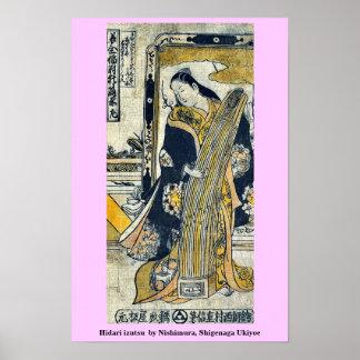 Izutsu de Hidari por Nishimura, Shigenaga Ukiyoe Impresiones
