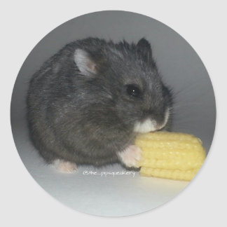 Izzy Eats a Baby Corn Classic Round Sticker