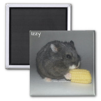 Izzy Eats a Baby Corn 2 Inch Square Magnet
