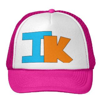 izzy kahn large logo pink hat