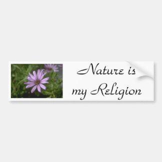 j0145356, Nature ismy Religion Car Bumper Sticker