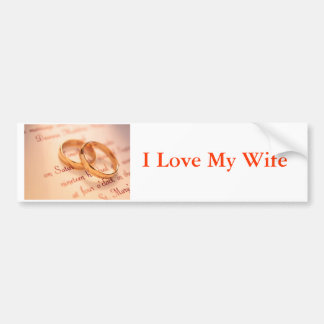 j0341738, amo a mi esposa pegatina para auto