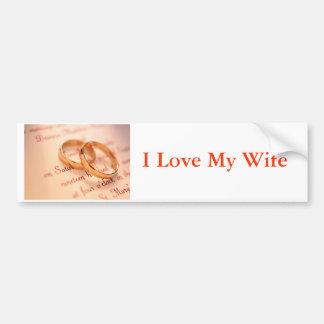 j0341738, I Love My Wife Bumper Sticker