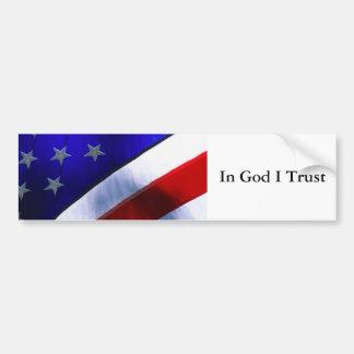 j0400756, In God I Trust Bumper Sticker