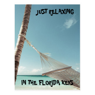 j0423125, JUST RELAXING, IN THE FLORIDA KEYS Post Card