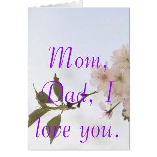 j0430510,          mamá, papá, le amo tarjeta pequeña