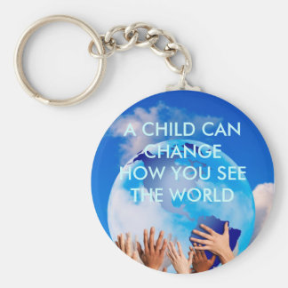 j0430643, A CHILD CAN CHANGEHOW YOU SEE THE WORLD Basic Round Button Keychain