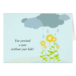 j0437291, You survived a year without your kids! Card