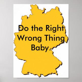 j0438596, hacen al bebé incorrecto adecuado de la  póster