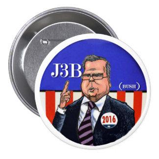 J3B (Bush) 2016 3 Inch Round Button