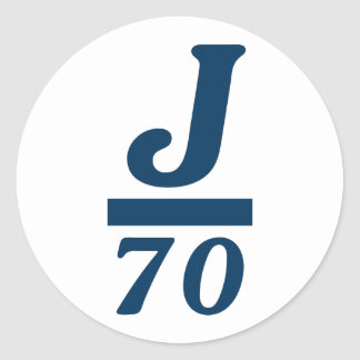 J/70 CLASSIC ROUND STICKER