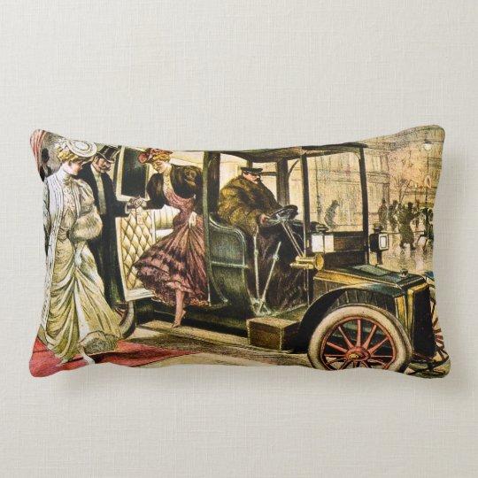 J.A. Lawton and Company Vintage Motor Coach Car Lumbar Pillow