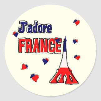 J Adore France Stickers