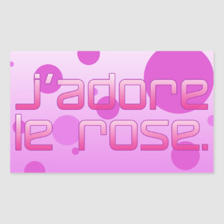 J Adore Le Rose I Love Pink in French Stickers