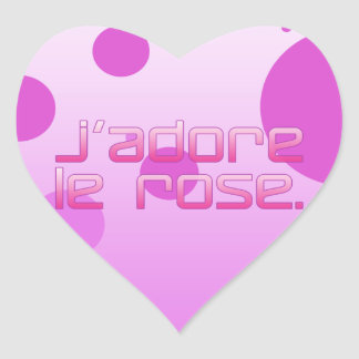 J Adore Le Rose I Love Pink in French Sticker