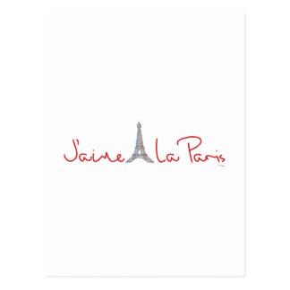 J aime La Paris I love Paris Postcard