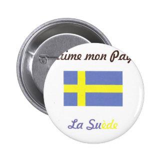 J aime la Suède jpg Pin's