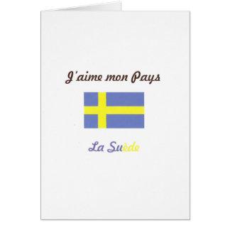 J aime la Suède jpg Carte De Vœux