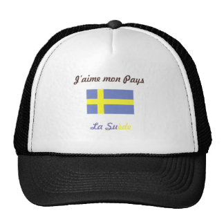 J aime la Suède jpg Casquette De Camionneur