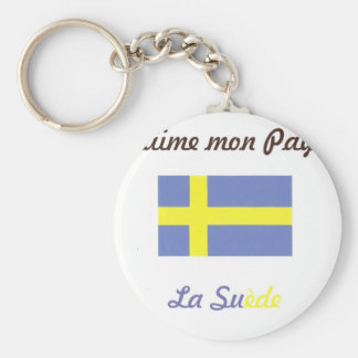 J aime la Suède jpg Porte-clefs