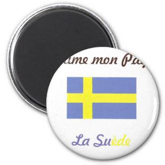 J aime la Suède jpg Magnets Pour Réfrigérateur