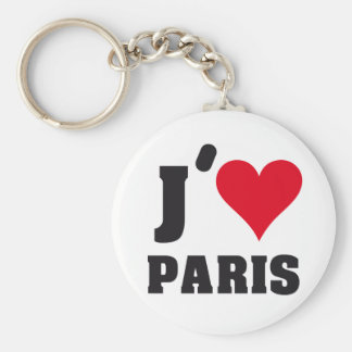 J´AIME PARIS BASIC ROUND BUTTON KEYCHAIN