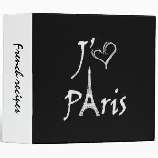 j aime Paris Binder