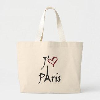 j aime París Bolsa De Mano