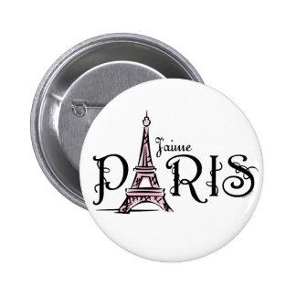 J aime Paris Button
