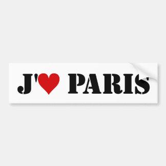 J aime París Pegatina De Parachoque