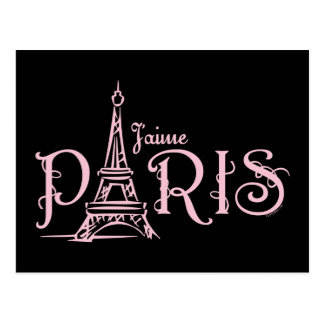 J aime Paris Dark Postcard