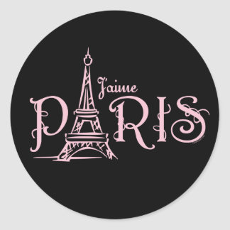 J aime Paris Dark Sticker