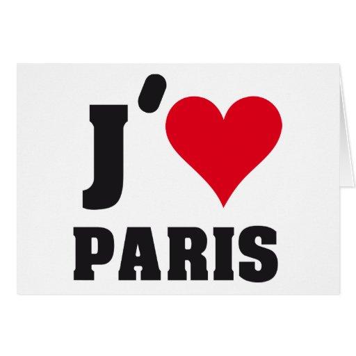 J´AIME PARIS GREETING CARDS